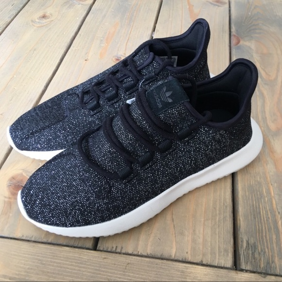 the latest 5c159 e7aa1 Adidas Tubular Shadow Knit Black/Silver Sneakers NWT